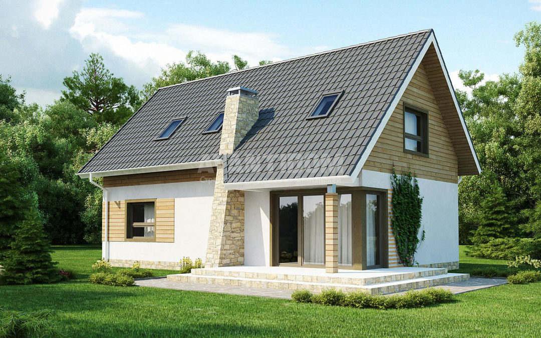 Дома с двускатными крышами – их особенность и привлекательность