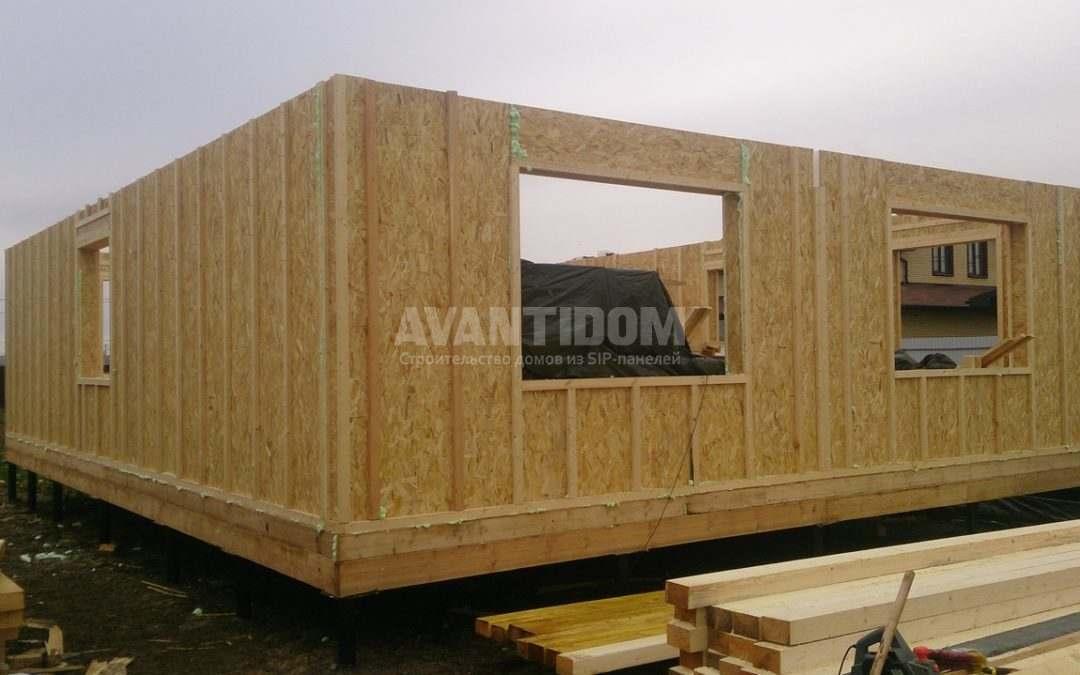 Строительство дома по технологии I-SIP п. Подсолнухи — 2 проект (2 часть)