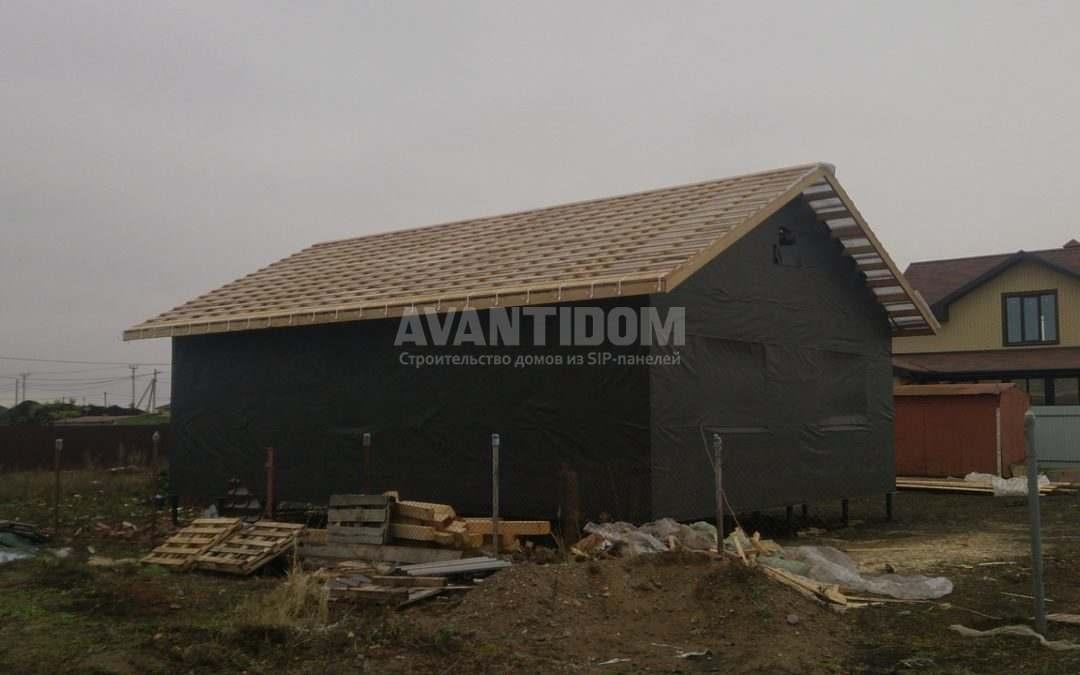 Строительство дома по технологии I-SIP п. Подсолнухи — 2 проект (7 часть)