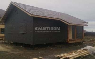 Строительство дома по технологии I-SIP п. Подсолнухи — 2 проект (8 часть)